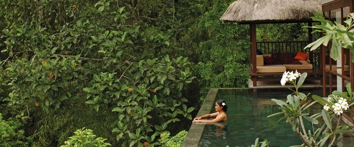 panoramica deluxe pool room ubud hanging gardens